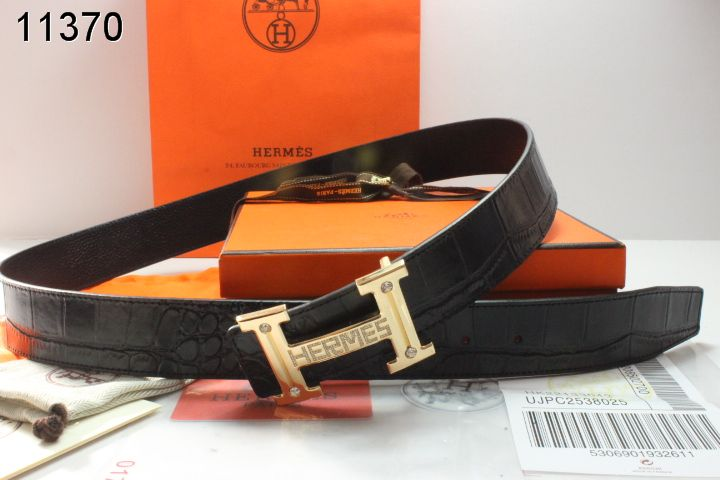 Latest Black Belt with Golden H Buckle Hermes Mens Outlet