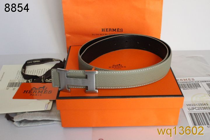 New Hermes Belt Mens Grey with Silver H Buckle Online
