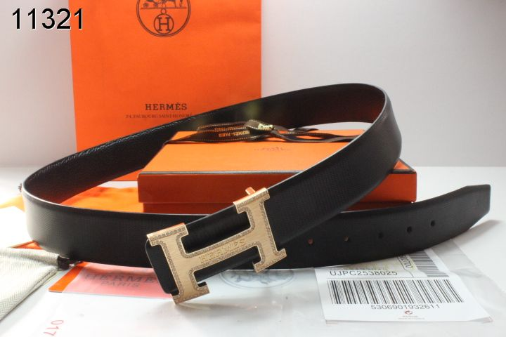 Mens Belt Black Hermes with Golden H Buckle UK