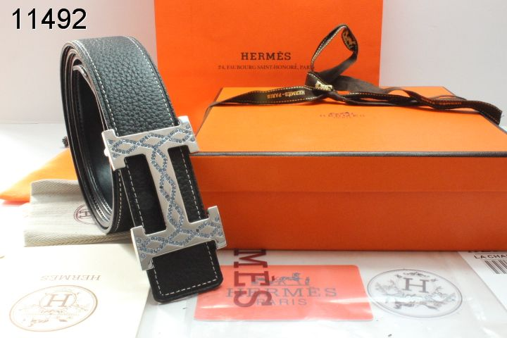 with Silver H Buckle Hermes Belt Black Mens Sale