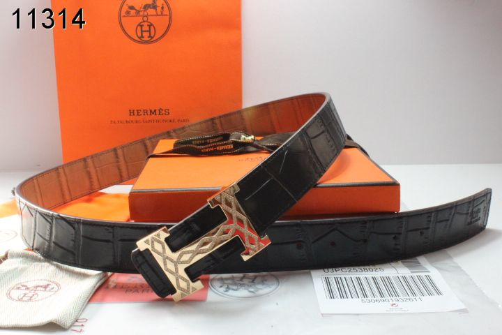 with Golden H Buckle Belt Black Mens Hermes Online