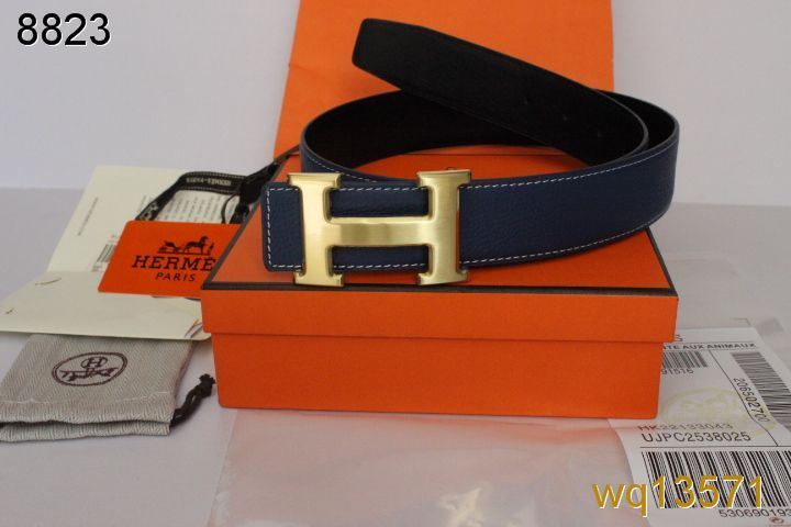 Discount Belt Chocolate with Golden H Buckle Hermes Mens