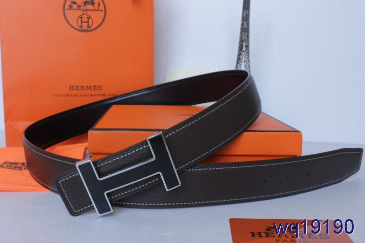 Qualified Hermes with Black H Buckle Belt Mens Black