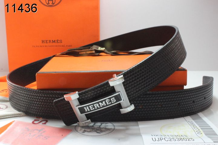 Black Mens Hermes with Silver H Buckle Belt Clearance Sale