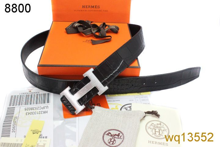 Black Belt Mens Hermes with Silver H Buckle Online