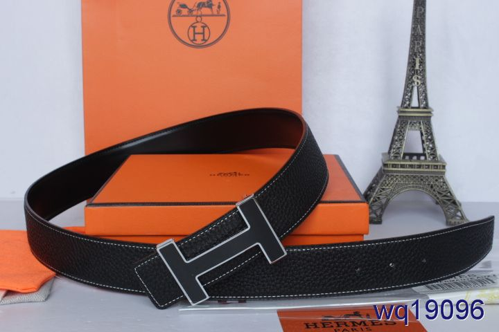 Good with Black H Buckle Belt Hermes Mens Black