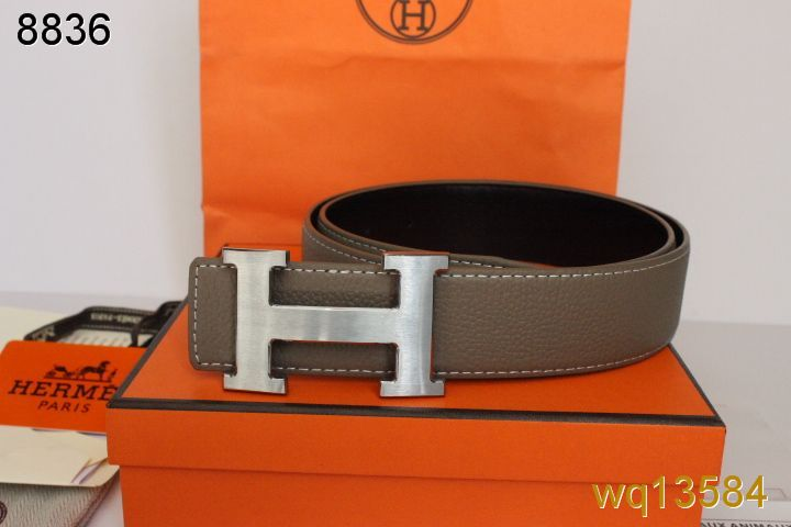 Fashionable Grey Belt Mens Hermes with Silver H Buckle Online
