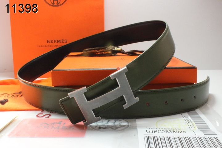 Trendy Belt Hermes Mens Chocolate with Silver H Buckle Store