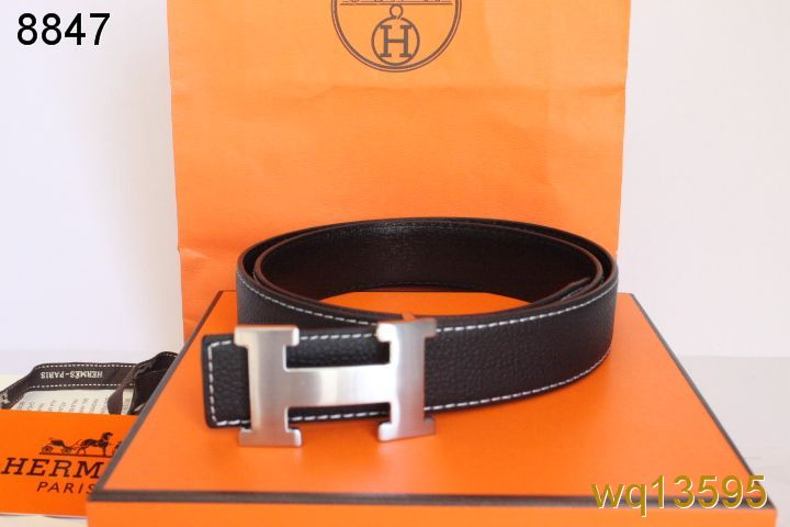 Hermes with Silver H Buckle Belt Black Mens Clearance Sale