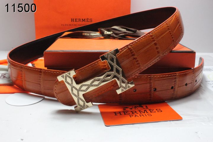 Special with Golden H Buckle Hermes Brown Belt Mens Store