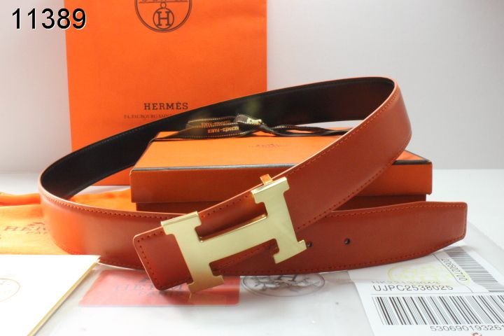 Shop with Golden H Buckle Hermes Mens Orange Belt Clearance