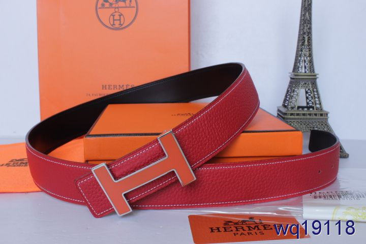 Hermes Belt Mens with Orange H Buckle Rose Online