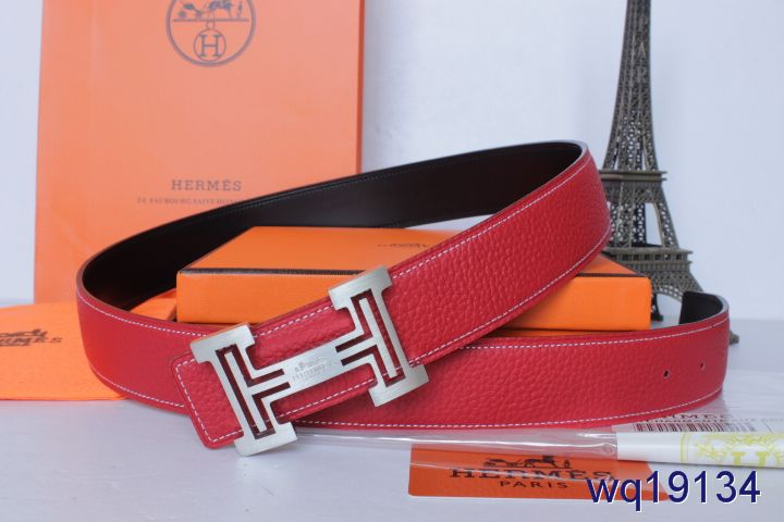 Belt with Silver H Buckle Rose Mens Hermes Store
