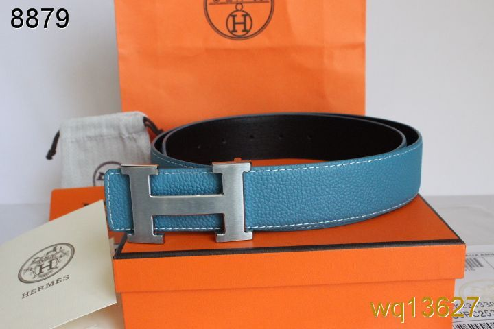 Latest Blue Hermes Mens with Silver H Buckle Belt Outlet