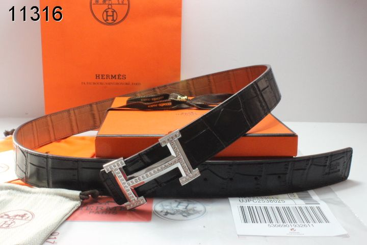 Luxury Black Belt with Silver H Buckle Hermes Mens Deals