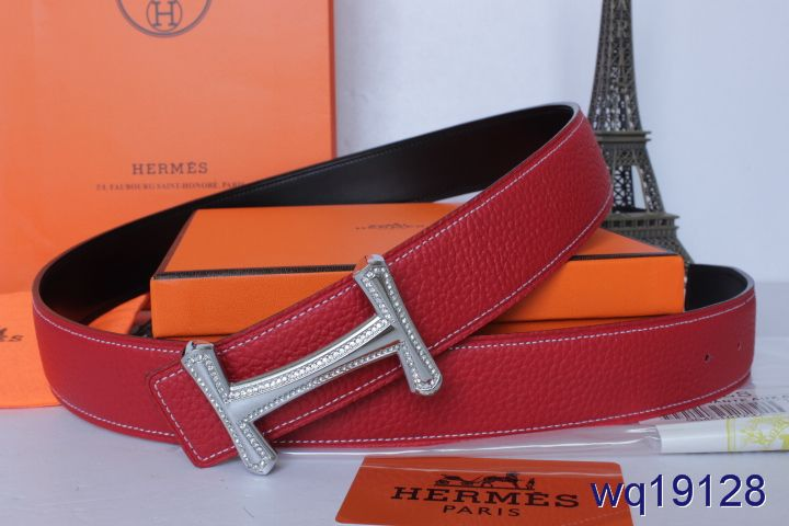 Mens Belt with Silver H Buckle Rose Hermes Cheap Sale