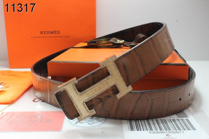 Shop Brown Belt Mens Hermes with Golden H Buckle