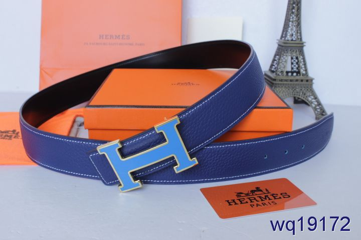 Purchase Mens Blue Belt Hermes with Blue H Buckle Inexpensive