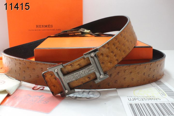 New Hermes with Black H Buckle Mens Belt Brown Sale