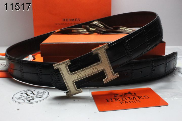 Buy Belt Black with Golden H Buckle Mens Hermes