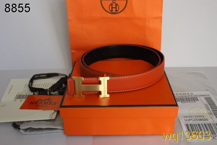Discount Mens Hermes with Golden H Buckle Orange Belt Deals