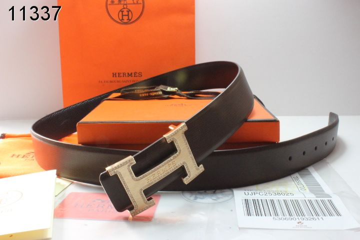 Belt with Golden H Buckle Hermes Black Mens Online