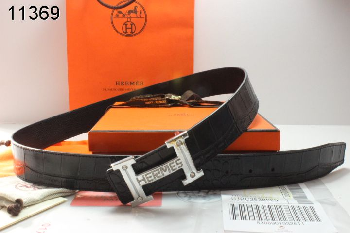 New with Silver H Buckle Hermes Black Belt Mens Cheap Sale