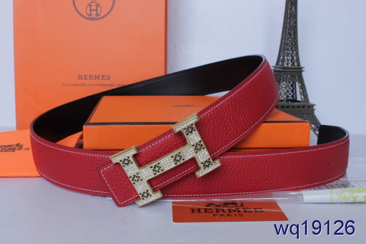 with Golden H Buckle Belt Rose Hermes Mens Affordable