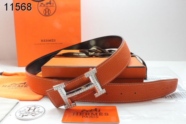 with Blingbling H Buckle Orange Womens Belt Hermes Affordable
