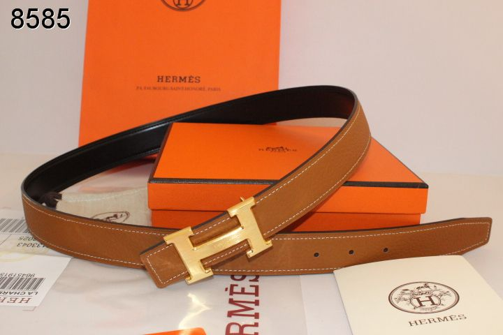 Discover Belt Hermes Womens Brown with Golden H Buckle