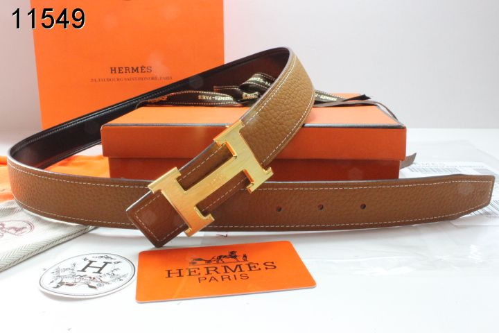 Famous Brown with Golden H Buckle Womens Hermes Belt