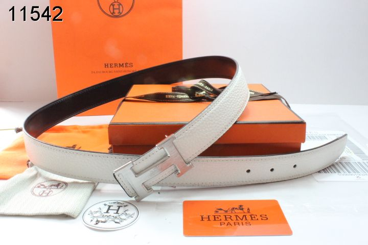 Various Belt with Silver H Buckle Womens Hermes Beige