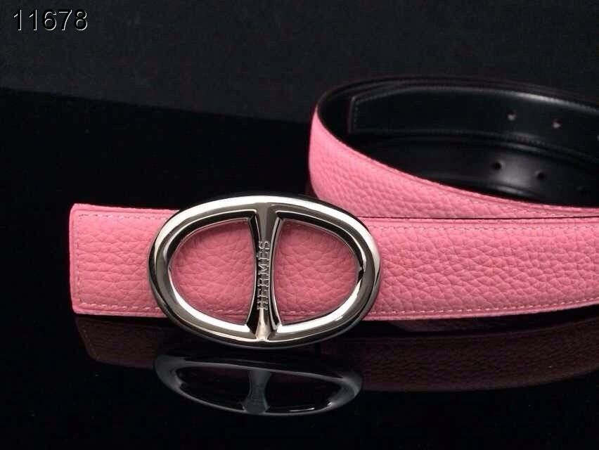 with Silver H Buckle Belt Pink Womens Hermes Promote