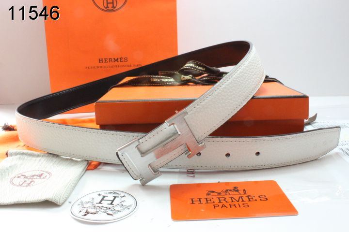 Style Womens with Silver H Buckle Hermes Belt Beige