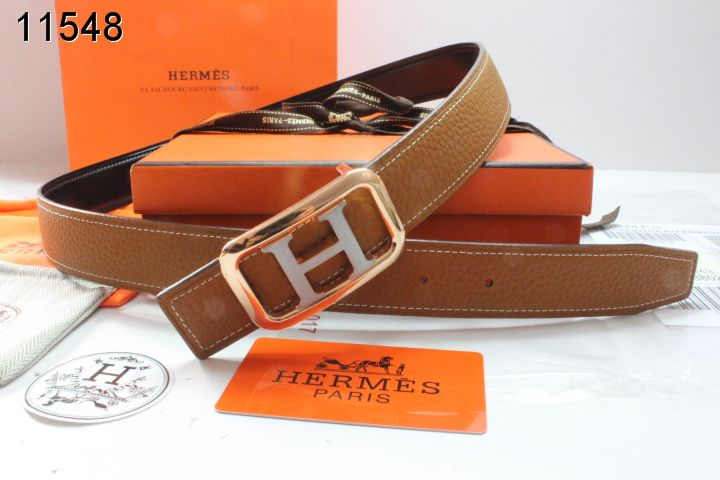 Fashion Belt with Golden/Silver H Buckle Womens Hermes Brown