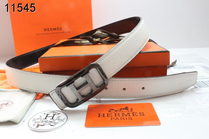 Stylish with Black H Buckle Belt Hermes Womens Beige