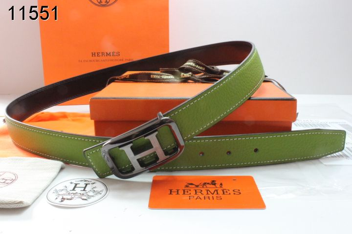 Best Womens Belt with Black/Silver H Buckle Green Hermes