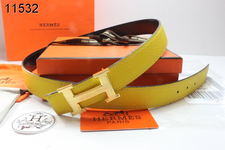 with Golden H Buckle Belt Womens Yellow Hermes Cheap Sale