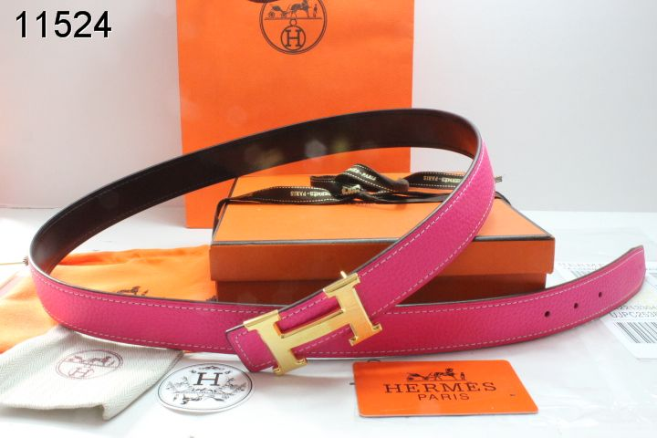Belt Rose Womens with Golden H Buckle Hermes Deals