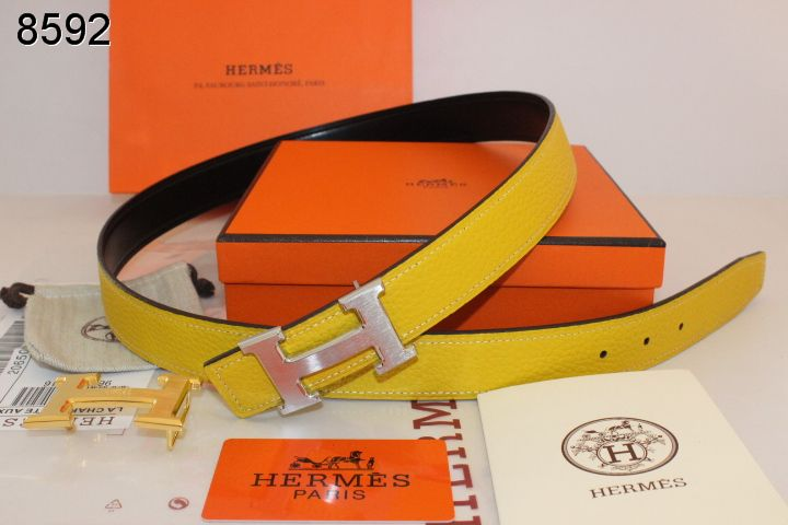 Womens Hermes with Silver H Buckle Yellow Belt Outlet