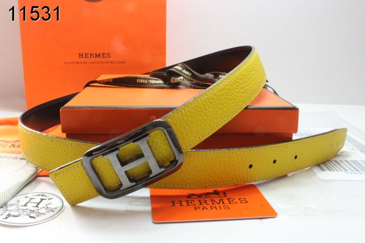 Belt with Black/Gray H Buckle Womens Hermes Yellow Promote