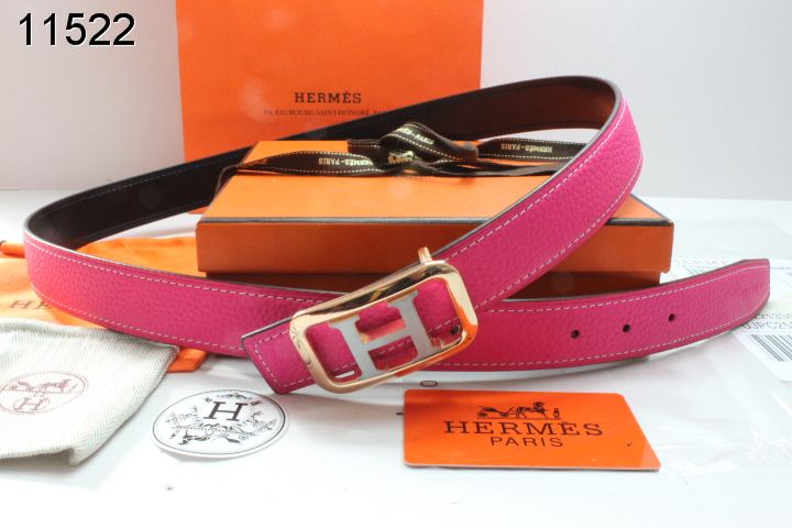 with Golden/Silver H Buckle Rose Hermes Womens Belt Store