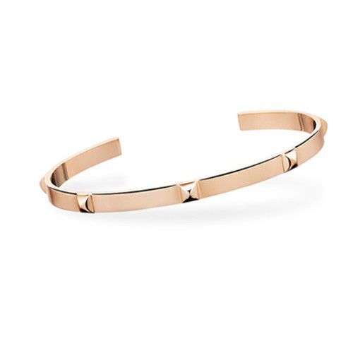 Hermes Mini Collier De Chien 10k Rose Gold Kelly Bracelet