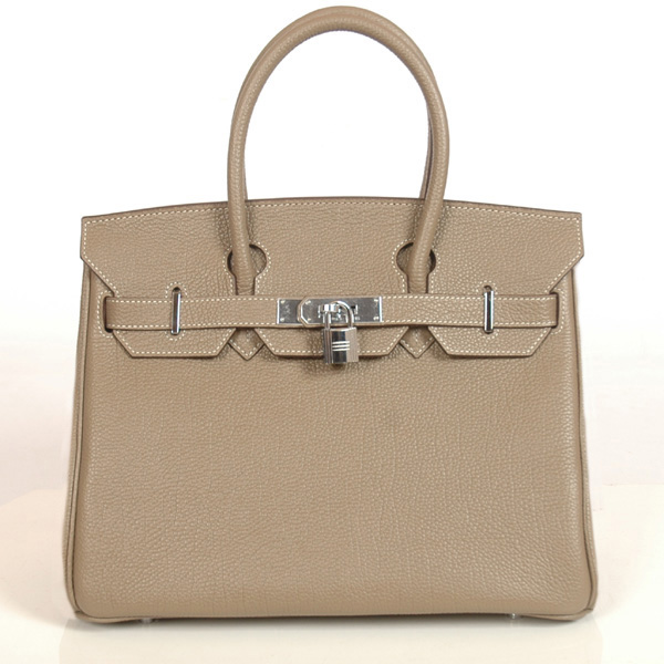 H30BJDGS Hermes Birkin togo leather 30CM togo in Dark Grey with Silver hardware