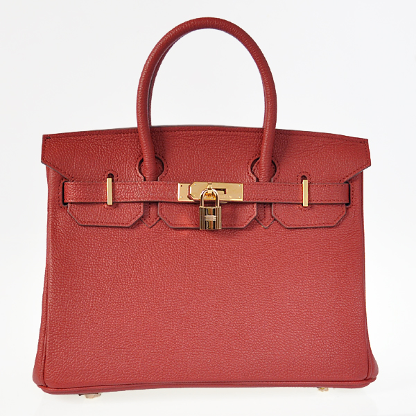H30BJPRG Hermes Birkin 30CM togo leather in Purplish red with Gold hardware