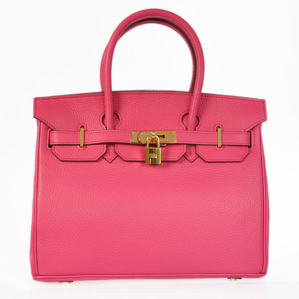 H30LSPG Hermes Birkin 30CM clemence leather in Peach with Gold hardware