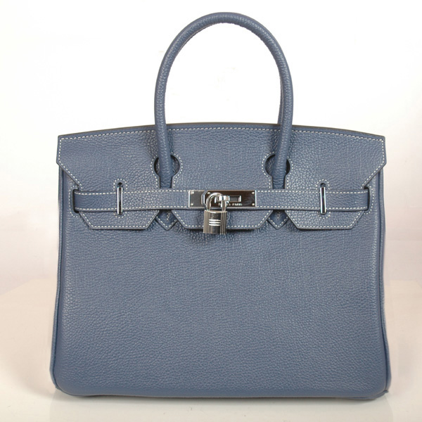 H30BJDGS Hermes Birkin 30CM togo leather togo in Dark green with Silver hardware