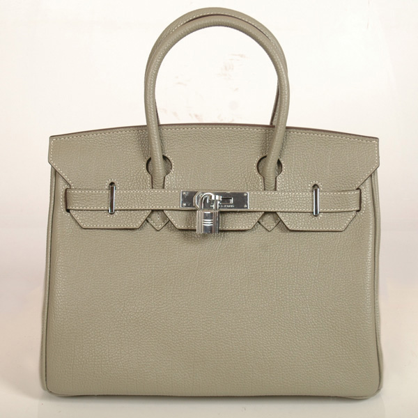 H30BJKS Hermes Birkin togo leather 30CM togo in Khaki with Silver hardware