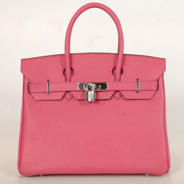 H30BJPS Hermes Birkin togo leather 30CM togo in Peach with Silver hardware
