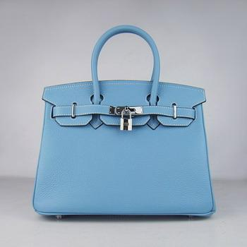 HBK30LBS012 Birkin 30CM Light Blue (silver)